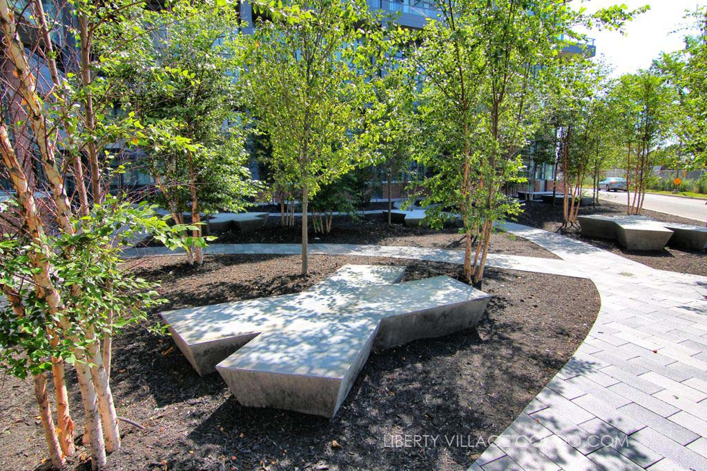 5 Hanna Ave landscape architecture in courtyard