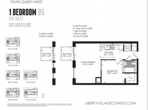 1093 Queen Condo 1 bedroom 05 525 sf floor plan