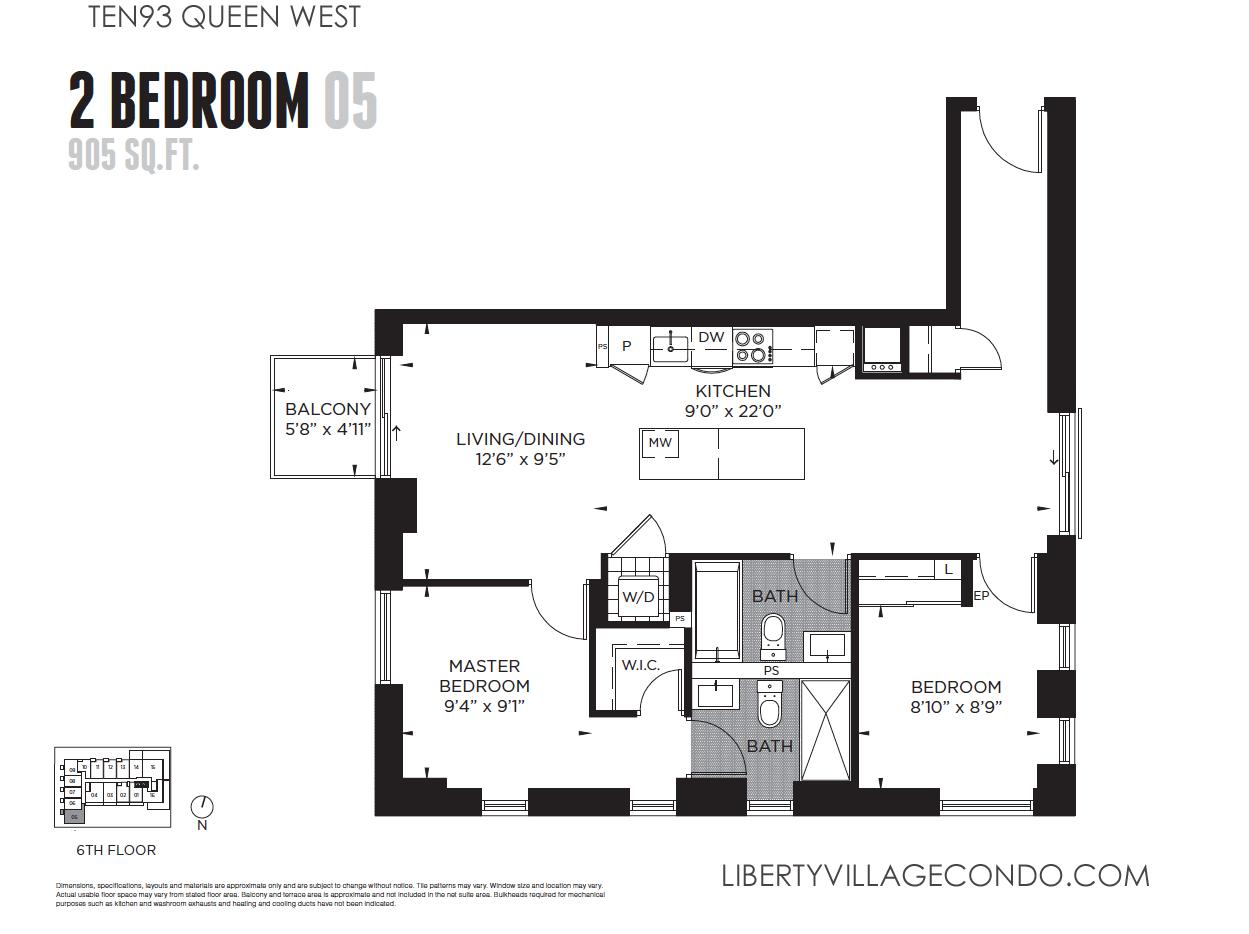 2 Bedroom 2 Bath Condo Floor Plans 28 Images 2 Bedroom