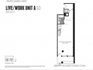 1093 Queen W  LiveWork Unit A 03 Gr Floor Plan