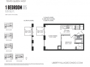 1093 queen st w 1 bedroom condo 520 sq ft floor plan 05