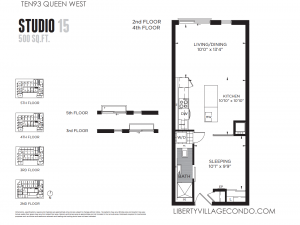 TEN 93 Queen W Studio Floor Plan