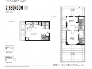 Ten93 Queen 2 bedroom with terrace floor plan 06 940 square feet