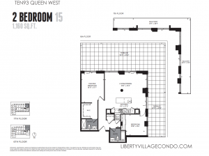 Ten93 Queen Street West 2 bedroom floor plan 15 1160 square feet