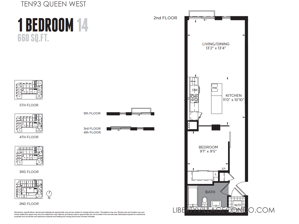 1 Bedroom Condo Floor Plans The