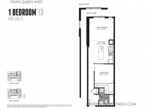 Ten93 condo 1 bedroom floor plan 685 sq ft 13
