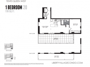 Ten93 preconstruction for sale 1 bedroom 659 sq ft floor plan 13
