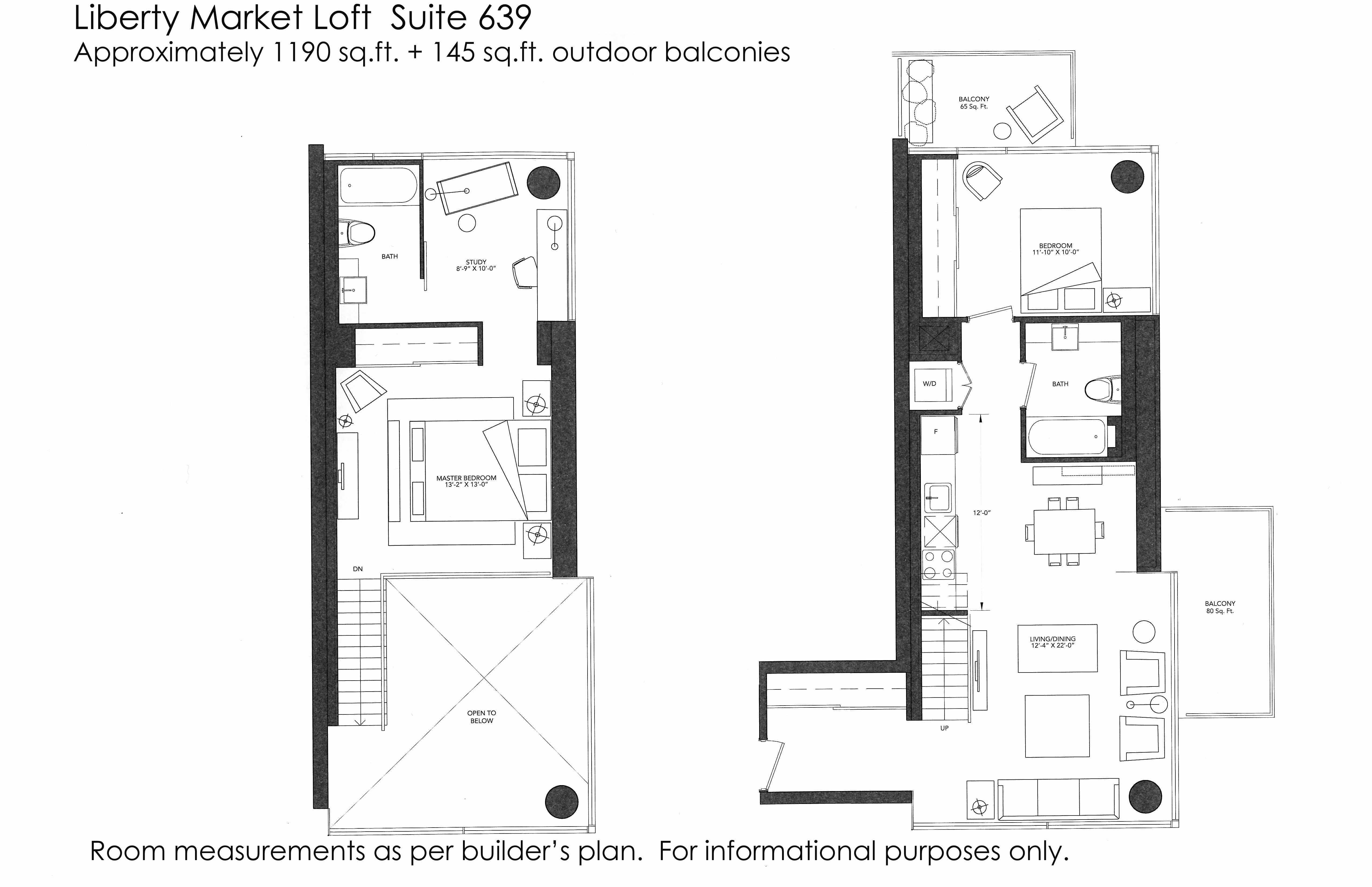 Just sold 2 storey 2 bedroom den loft at 5 hanna ave for Grooming shop floor plans