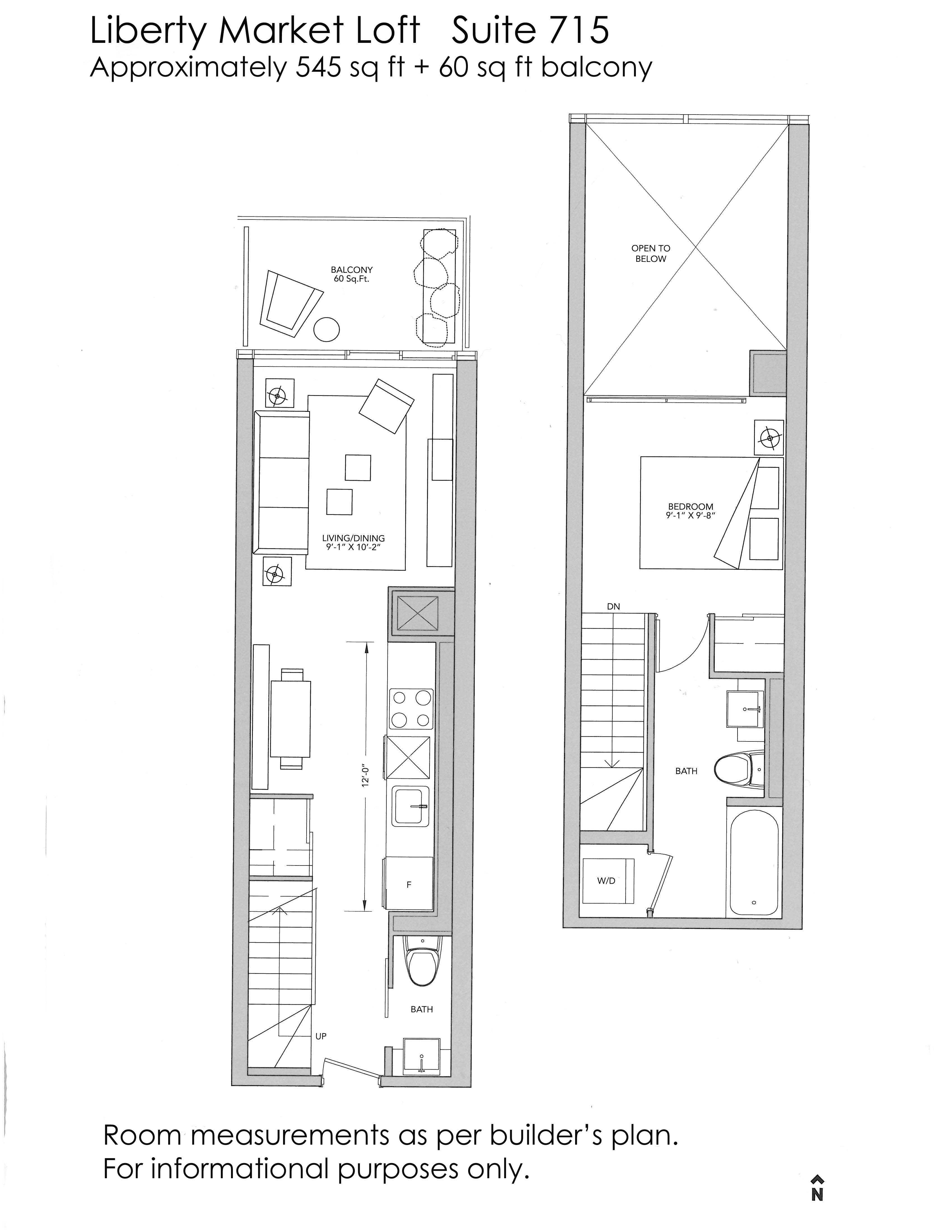 Just sold over asking price 1 bedroom loft suite at 5 for Grooming shop floor plans