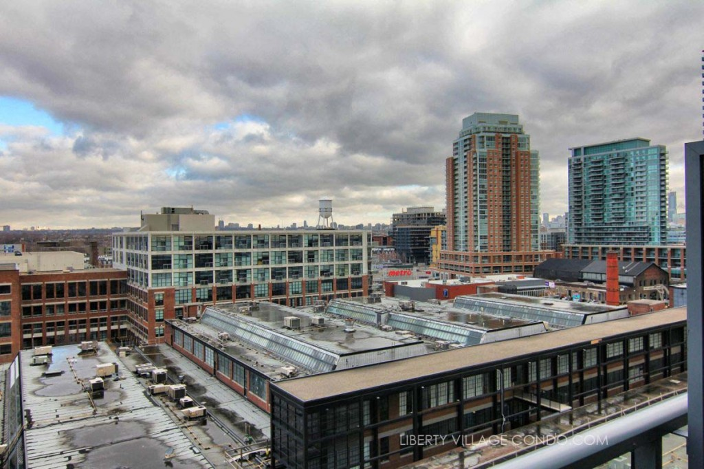 5 Hanna Ave north view overlooking Liberty Market building and Liberty Village