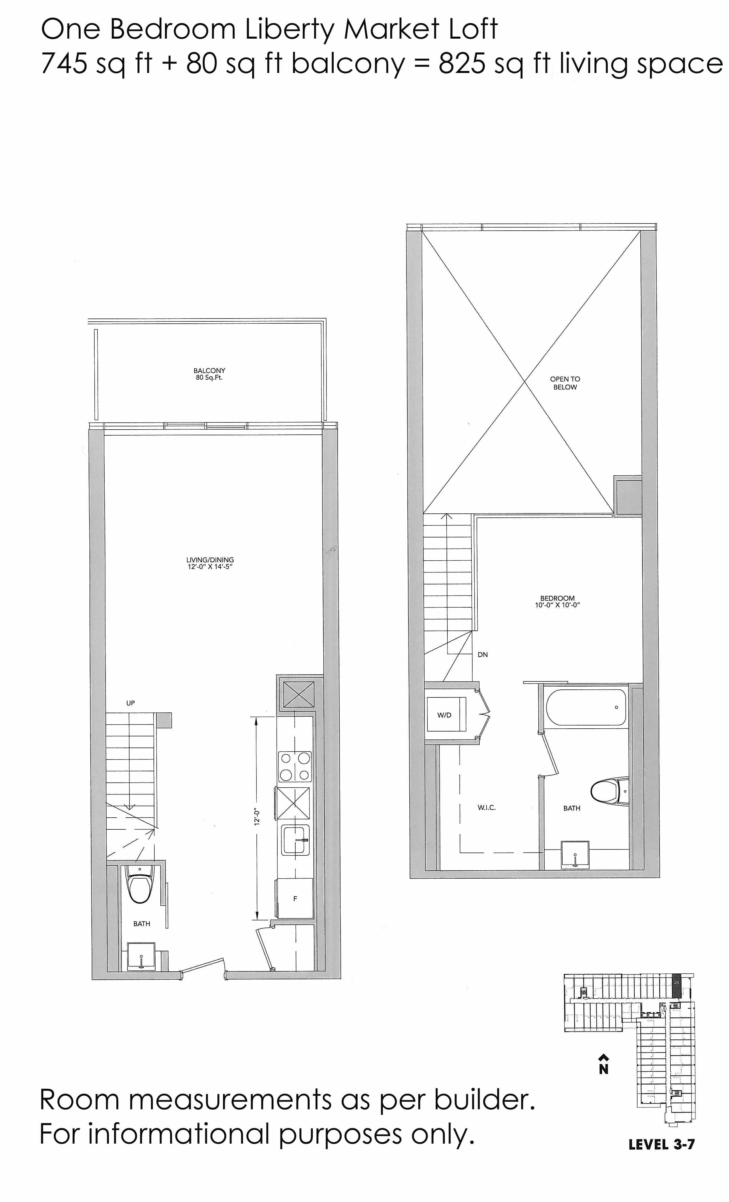 Just sold 2 storey 1 bedroom loft suite at 5 hanna ave for Grooming shop floor plans