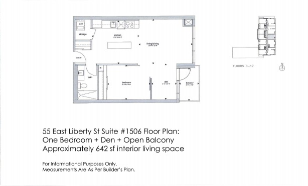 55 East Liberty St 1506 Floor Plan