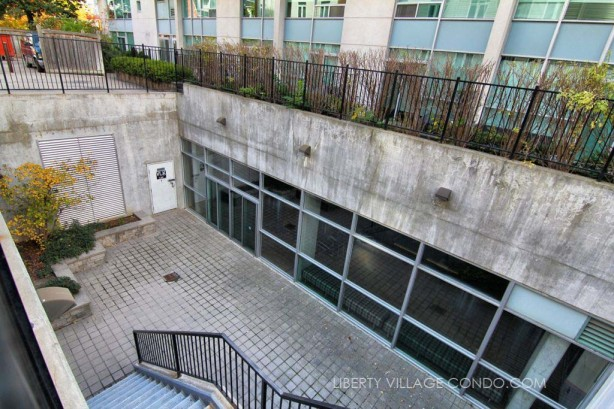 Interior courtyard and entrance to party room at 954 King St W