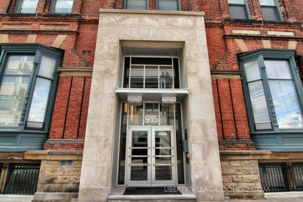 Massey Harris lofts main entrance
