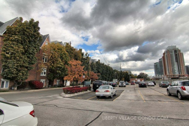 Sudbury St townhomes surface parking lot