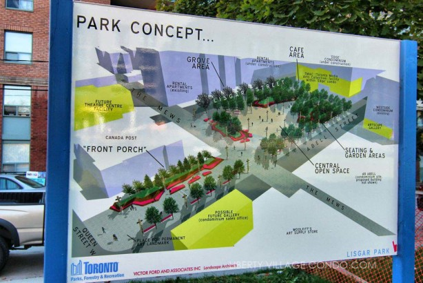 Concept plan for Lisgar Park