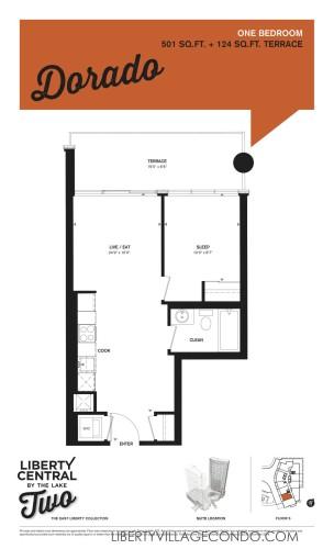 Liberty Central 2 1Bedroom floor plan_Dorado