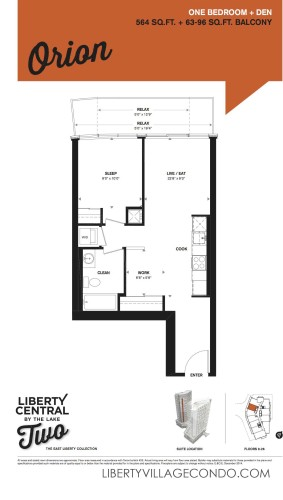 Liberty Central phase 2 1 Bedroom+Den floor plan_Orion