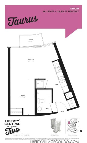 Liberty Central phase 2 floor plan Studio_Taurus