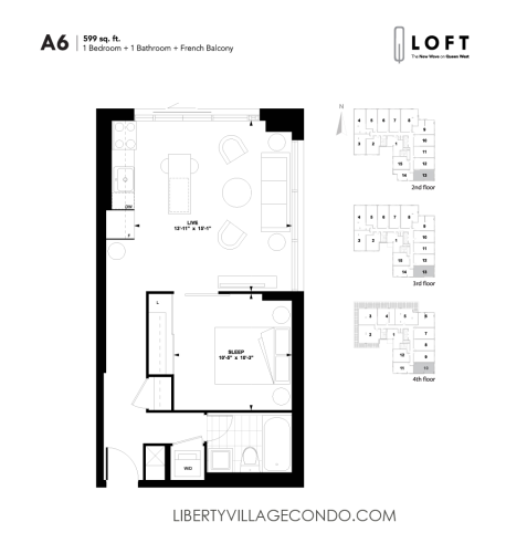 Q-Loft-floor-plan-1-bedroom-599-sq-ft-A6