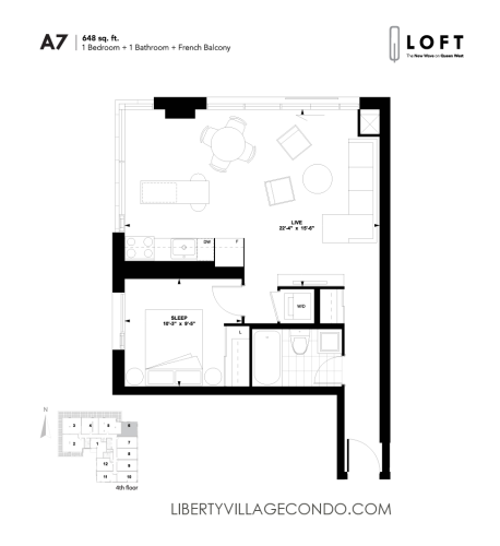 Q-Loft-floor-plan-1-bedroom-648-sq-ft-A7