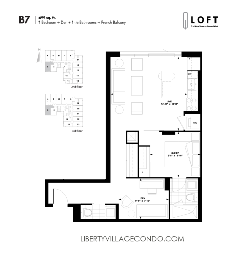 Q-Loft-floor-plan-1-bedroom+den-669-sq-ft-B7