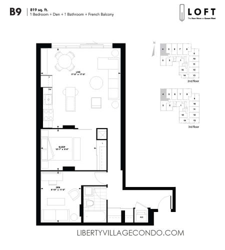 Q-Loft-floor-plan-1-bedroom+den-926-sq-ft-B9