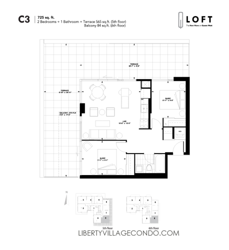 Q-Loft-floor-plan-2-bedroom-725-sq-ft-C3