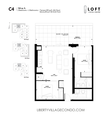 Q-Loft-floor-plan-2-bedroom-728-sq-ft-C4