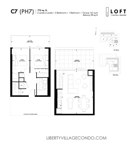 Q-Loft-floor-plan-2-bedroom-772-sq-ft-C7