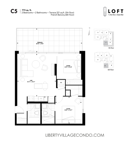 Q-Loft-floor-plan-2-bedroom-773-sq-ft-C5