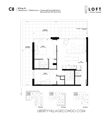 Q-Loft-floor-plan-2-bedroom-812-sq-ft-C8
