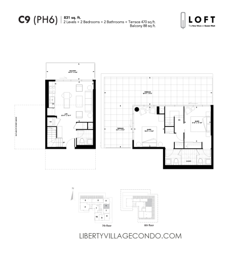 Q-Loft-floor-plan-2-bedroom-831-sq-ft-C9
