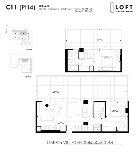 Q-Loft-floor-plan-2-bedroom-900-sq-ft-C11