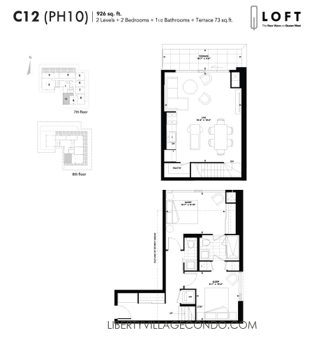 Q-Loft-floor-plan-2-bedroom-926-sq-ft-C12