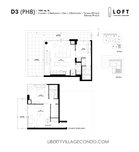 Q-Loft-floor-plan-2-bedroom+den-1041-sq-ft-D3
