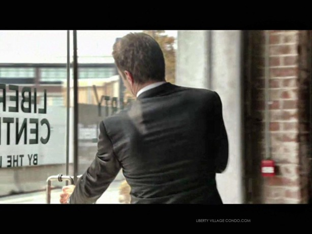 Transporter S1 Ep7 actor leaving the Liberty Central by the lake sales office
